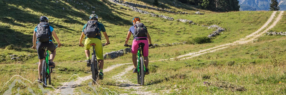 percorsi in montagna in mountain bike